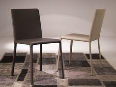 Sedia in pelle Collezione Lunette by Ozzio Italia design Studio Ozeta