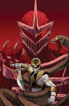 The White Ranger vs Lord Zedd.