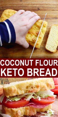 This low carb, gluten-free, Keto and Paleo Coconut Flour Bread may just be your new favorite bread while in a low carb and keto diet. I Coconut Flour Bread (Keto, Low Carb, Paleo) Joanie Nelson delicio Ketogenic Diet Meal Plan, Ketogenic Diet For Beginners, Keto Diet For Beginners, Keto Meal Plan, Diet Meal Plans, Ketogenic Recipes, Diet Recipes, Egg Recipes, Dessert Recipes