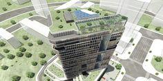 """Arranca la construcción de la torre """"Yung Ding Guo Ji"""" #Porcelanosa #architecture #environmentallyfriendly   @KRION®  Porcelanosa Solid Surface"""