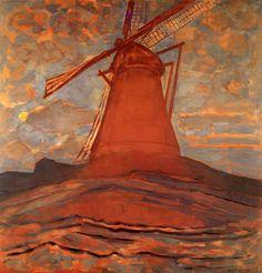 Piet Mondrian (Dutch, 1872-1944), The Mill, 1908. Oil on canvas, 100 x 94.5cm.