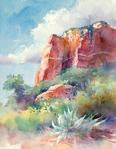 Scottsdale Artists' School | Watercolor Unleashed! Painting the Red Rocks | Online Registration