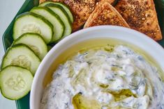 How To Make Cool, Creamy Greek Tzatziki Sauce — Cooking Lessons from The Kitchn Breakfast On The Go, Health Breakfast, Kfc, Coleslaw, Quinoa, Tzatziki Sauce, Pasta, Breakfast Casserole, Healthy Drinks