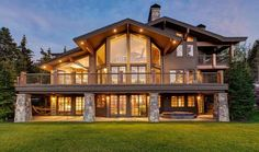 Spectacular Park Meadows Acre Estate in Park City, UT, United States for sale on JamesEdition Lake House Plans, Mountain House Plans, Dream House Plans, Mountain Dream Homes, Mountain Home Exterior, Dream House Exterior, Dream Home Design, House Design, Luxury Homes Dream Houses