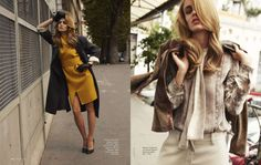 Retro Soft-Hued Editorials : Elle Russia March 2012