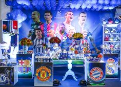 Mesa da festa Champions League