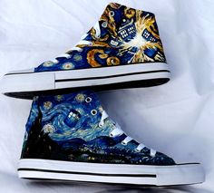 Van Gogh Style Doctor Who Shoes by SatansSlippers on Etsy