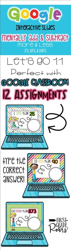 This fun resource will allow your students to practice ADDING & SUBTRACTING MENTALLY BY 1'S, 10', & 100'S on Google Slides. This is a perfect way to engage your students, assess their understanding and do it all PAPERLESS! If you school is going 1:1, this will be a perfect addition with activities you can use in your own classroom. 12 different assignments that you can share with your students using Google Classroom or email.
