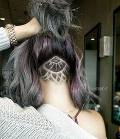 When you have lots of hair and a lot more courage, go for bold patterns and subtle geode colors.