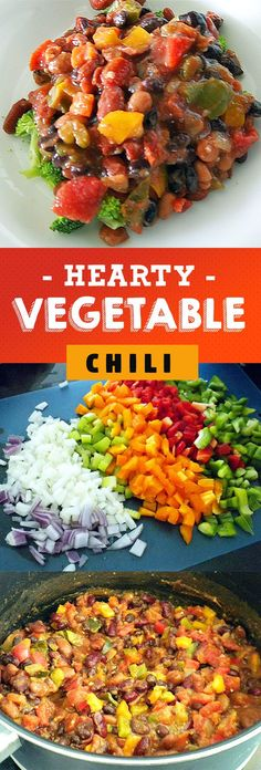 Hearty Vegetable Chili: A Protein Packed Vegan Meal - RunToTheFinish Vegetable Chili Recipe, Vegetable Recipes, Vegetarian Recipes, Healthy Recipes, Healthy Options, Clean Dinner Recipes, Clean Eating Dinner, Vegan Soups, Vegan Dishes