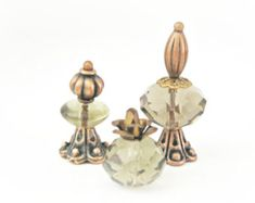 Doll House Vintage Style Miniature One Inch Scale 12th Perfume Bottle Ladies Vanity Set