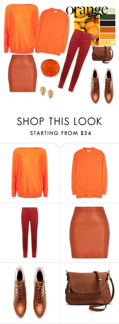 """""""Orange"""" by flowerdreamer ❤ liked on Polyvore featuring Lauren Ralph Lauren, Acne Studios, Citizens of Humanity, River Island, Moda Luxe and Marika"""