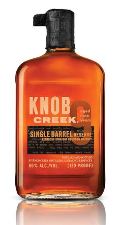 Knob Creek Single Barrel Reserve encounters no detours or distractions. It's just the big, pure flavor that Booker Noe set out to create over two decades ago.    Most bourbon is blended together from multiple barrels to create a consistent taste. However, each barrel of Single Barrel Reserve is bottled individually to become one-of-a-kind.