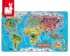 puzzle magnetyczne mapa świata