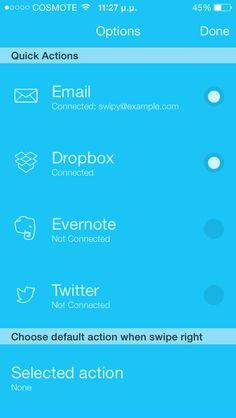 Swipy Notes iOS 7 design app mobile