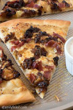 White Barbecue Pizza