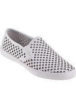 Jeffrey Campbell Dougray Slip-On Sneaker White  - Jildor Shoes, Since 1949