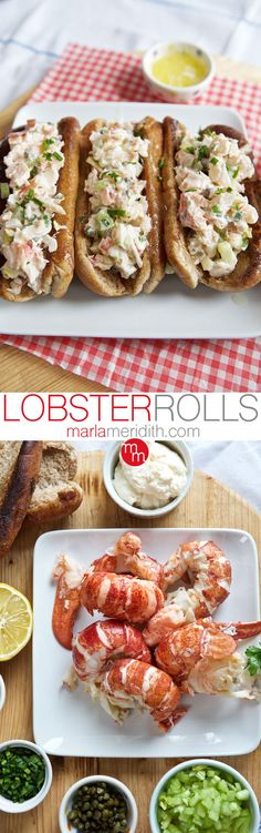 Lobster Rolls! Host a lobster boil this summer & feast on these! MarlaMeridith ( @marlameridith )