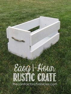 DIY Easy One Hour Rustic Crate