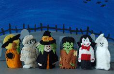 Halloween Finger Puppet Set. $40.00, via Etsy.