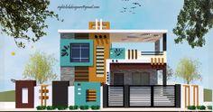 Single Floor House Design, Modern Small House Design, Bungalow House Design, House Outside Design, House Front Design, House Design Photos, Building Elevation, House Elevation, 20x30 House Plans