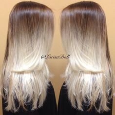 Platinum Ombre Hairstyles! Photos and Video tutorials!