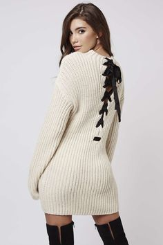 **Lace-Up Jumper Dress By Kendall + Kylie at Topshop