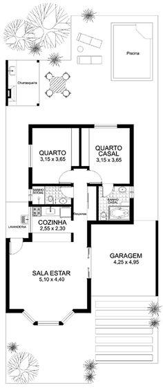 plantas de casas com 2 quartos e piscina