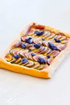 fig + violet tart