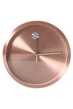 Rose Gold Quartz Brushed Metal Clock - Clocks - Shop Décor - Home Dé Copper Rose, Rose Gold, Clock Shop, Metal Clock, Baby Sister, Brushed Metal, Quartz, Contemporary, Watch