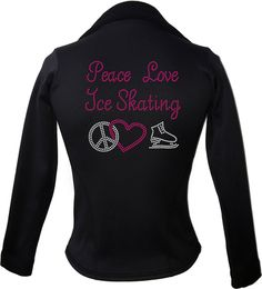 This beatiful figure skating jacket is made from Polartec Fabric and is sure to keep you warm while you skate.