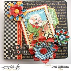 Mother Goose ABC mini album by Lori - gorgeous! Click to see all the great pages of this book #graphic45