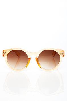 ShopSosie Style : Leon Sunglasses in Clear Peach