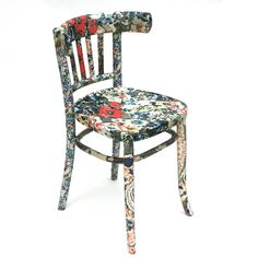 Round Back Decoupage Floral Chair