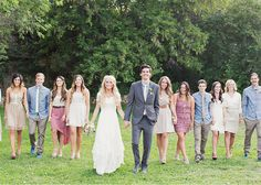 Alixann Loosle Photography: Lauren + Zach Wedding - Love the wedding love the bridal party colors!