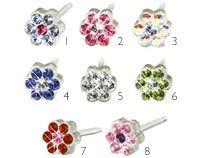 Blomdahl medical plastic daisy earrings