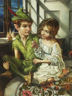 Disney Fine Art Disney Peter Pan, Sewn to Shadow Limited-Edition Wrapped Canvas Walt Disney, Heros Disney, Disney Magic, Disney Characters, Disney Princesses, Peter Pan Disney, Disney Fan Art, Disney Love, Peter Pans