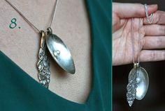 spoon pendants. English is included. scroll down Maikin mokomin: DIY: Riipuskaulakoru vanhasta lusikasta
