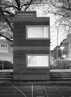 Gerätehäuser Sportanlage Sihlhölzli, Zürich | Boltshauser Architekten, Zürich, Schweiz