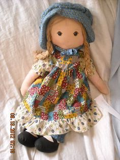 BIG vintage holly hobby hobbie doll 1970's knickerbocker toy cloth rag doll