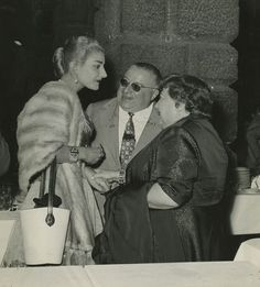 Maria Callas with her teacher Elvira de Hidalgo