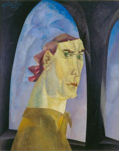 Lyonel Feininger (1871–1956)  Self-Portrait (Selbstbildnis), 1915