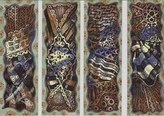 I recently entered a Steampunk ATC swap, and for extras I made everyone a bookmark.