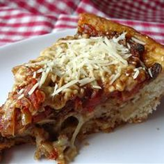 Chicago-Style Pan Pizza - uses frozen bread dough