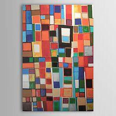 hånd-malet abstrakt oliemaleri med strakte ramme – DKK kr. 727