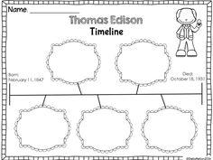 Timelines for inventors! 3 different timelines for inventors including Alexander Graham Bell, Thomas Edison, Henry Ford, Garrett Morgan, Benjamin Franklin, George Washington Carver.