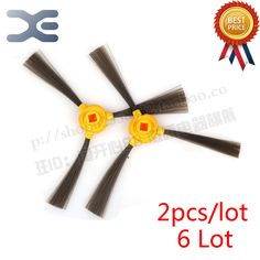 6 Lot Ecovacs TCR266 CEN350 Sweeping Machine Accessories Side Brush Vacuum Cleaner Parts  #Affiliate