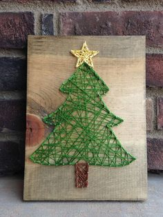 Christmas Tree String Art Christmas Gift Giving Holiday Home Decor Merry Christmas Decorations Star Tree Wood Sign Wall Hanging Celebrate