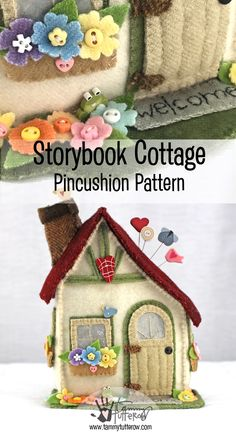 Storybook Cottage Pincushion Pattern | pdf download | www.tammytutterow.com
