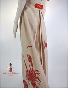 A rare gem. Elizabeth Hawes Lobster Lounging Pajamas, c. An homage to Elsa Schiaparelli. I have this outfit in my collection. Elsa Schiaparelli, Antique Clothing, Historical Clothing, Historical Dress, Women's Clothing, 1930s Fashion, Vintage Fashion, Vintage Dresses, Vintage Outfits